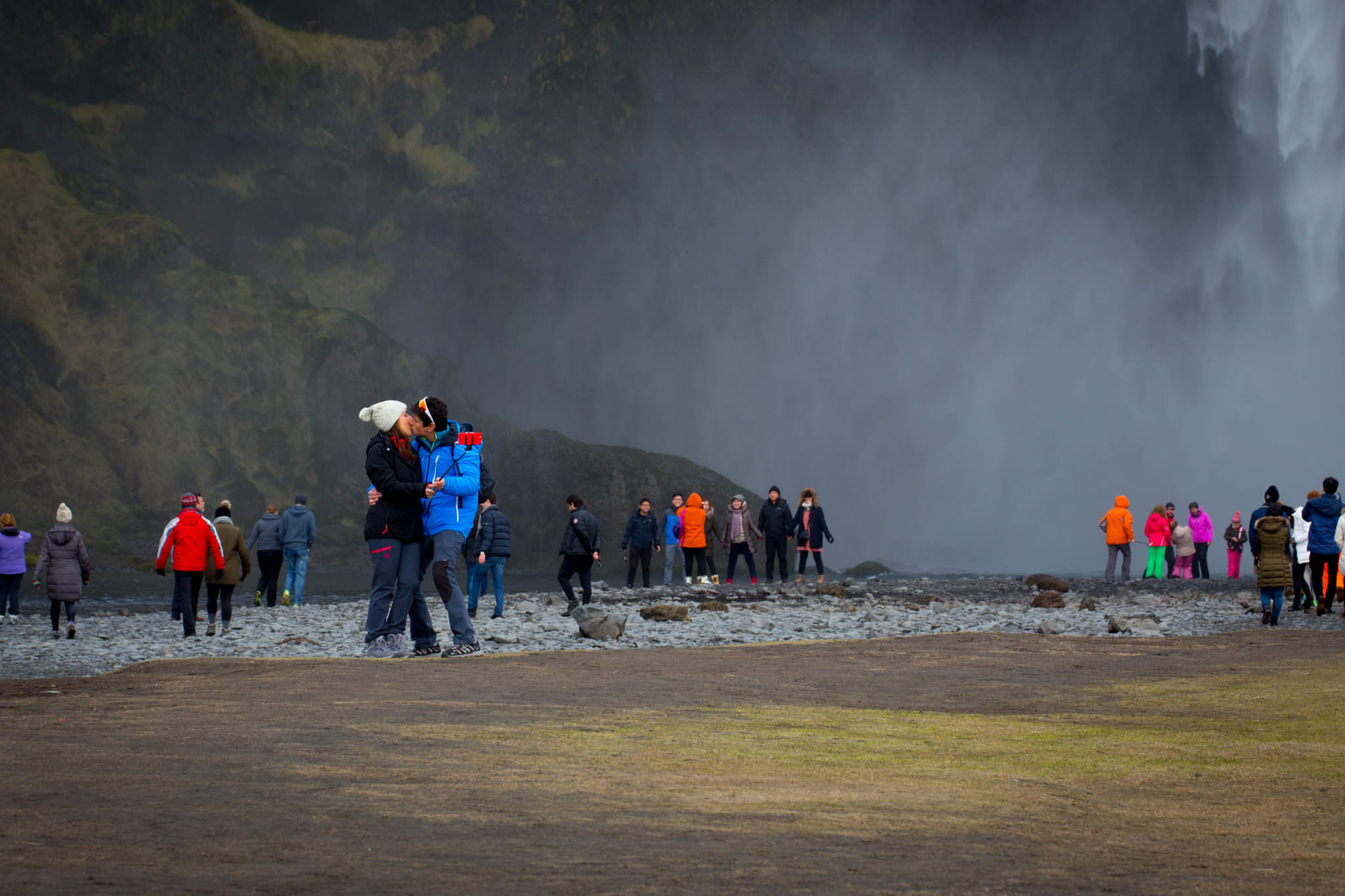 Love at Skogafoss