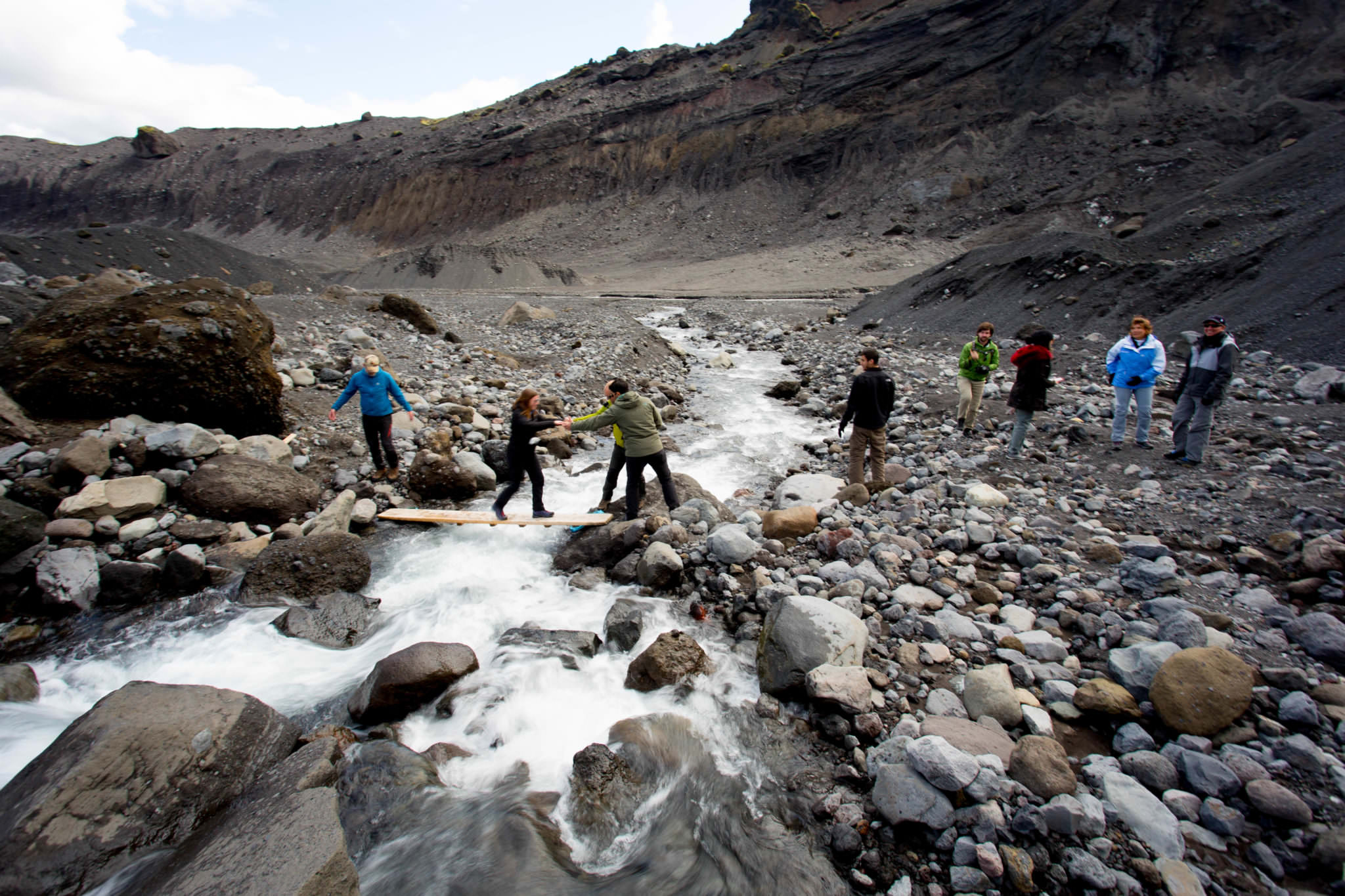 Gígjökull glacier lagoon