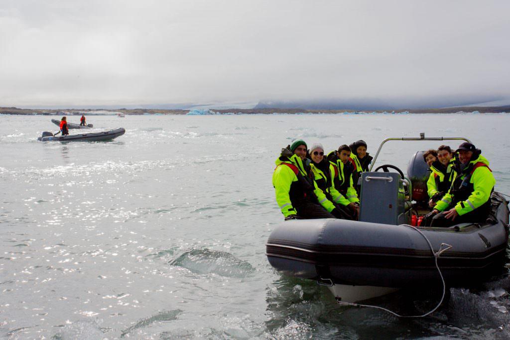 rib boat tour in Jökulsárlón glacier lagoon