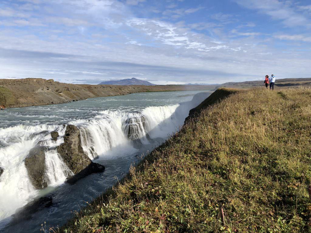 Gullfoss waterfall east side