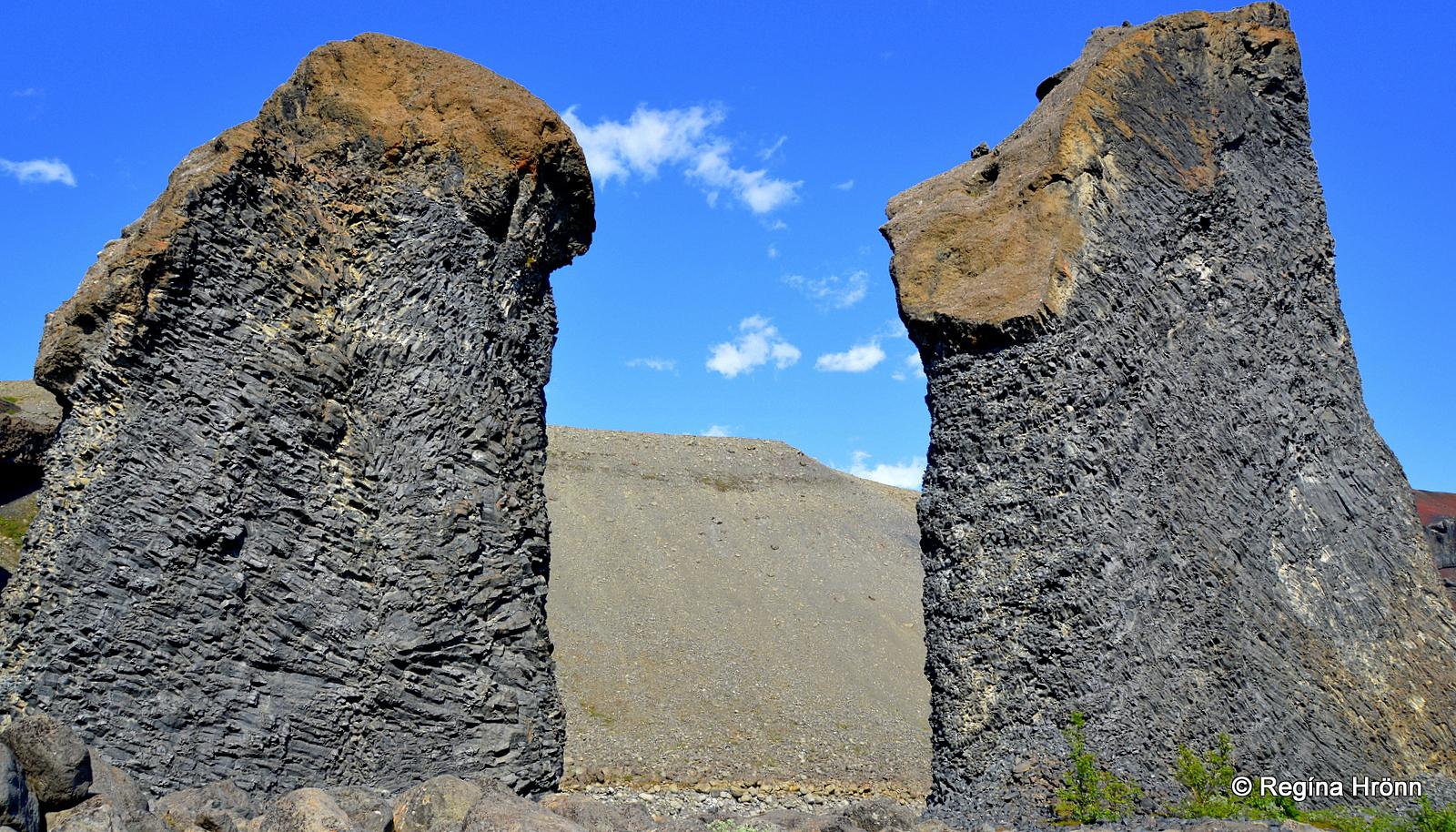 Karl og Kerling trolls in Hljóðaklettar NE-Iceland