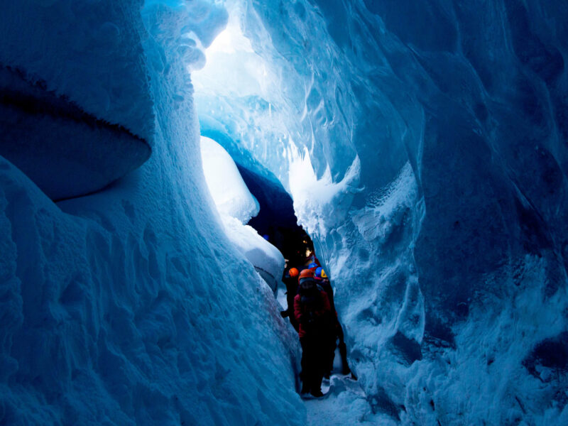 Natural ice cave